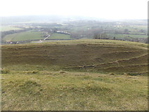 ST8412 : Child Okeford: some of the ramparts of Hambledon Hill by Chris Downer