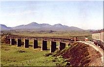 NN4258 : Viaduct on the rail line crossing Rannoch Moor by Alan Reid