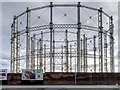 SJ8198 : Liverpool Street Gasometers by David Dixon