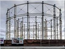 SJ8198 : Liverpool Street Gasometers by David Dixon
