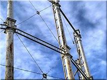SJ8198 : Salford Gasworks, Gasometer Detail by David Dixon