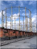 SJ8198 : Former Salford Gasworks Gasometers by David Dixon