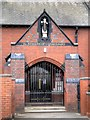 SD8300 : St Thomas of Canterbury RC Church Porch by David Dixon