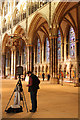 SK9771 : Cathedral photographer by Richard Croft