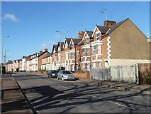 SP4641 : Three-storey terraced houses, Middleton Road by Christine Johnstone