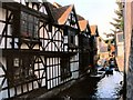 TR1457 : Old Weavers' House and River Great Stour, Canterbury by David Dixon