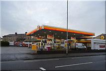 SZ6599 : Shell filling station, Goldsmith Avenue by N Chadwick