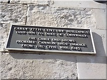 SY6778 : Plaque on Ship Inn, Weymouth by Becky Williamson