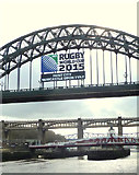 NZ2563 : Newcastle host city for the Rugby World Cup 2015 by Gary Rogers