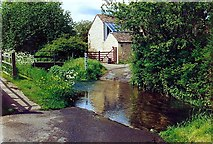 TF0117 : The ford at Little Bytham, near Bourne, Lincolnshire by Rex Needle