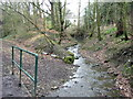 SD5910 : Stream off National Cycle Route 55  by JThomas