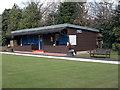 SE3635 : Manston Park Bowls Pavilion - Manston Gardens by Betty Longbottom