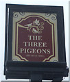 SD6807 : Sign for the Three Pigeons by JThomas