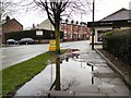 SJ9594 : Puddles on Dowson Road by Gerald England