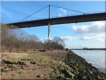 NS4672 : Erskine Bridge and minewatchers' post by Lairich Rig