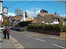 SP2872 : Timber-framed thatched houses, Castle Hill, Kenilworth by Robin Stott