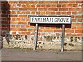 TG1908 : Earlham Grove sign by Adrian Cable