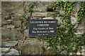 SW7750 : Plaque at Callestick Methodist Cemetery by Ian S