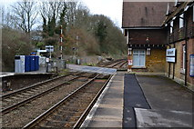 TQ2151 : Betchworth Station and level crossing by David Martin