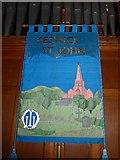 NY2623 : Keswick St John: banner (2) by Basher Eyre