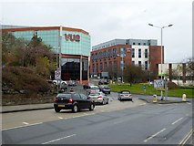 SX9292 : Paris Street roundabout, Exeter by David Smith