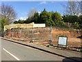 SJ7949 : Halmer End: demolished wall of former railway bridge by Jonathan Hutchins