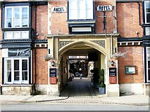 TF0920 : Stagecoach arch at the Angel Hotel, Bourne, Lincolnshire by Rex Needle