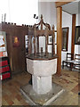 TG1902 : Font of St.Mary's Church by Adrian Cable
