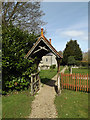 TG1902 : Lych Gate of St.Mary's Church by Adrian Cable
