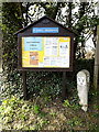 TG1902 : St.Mary's Church Notice Board by Adrian Cable