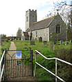 TG2504 : St Mary's church in Arminghall by Evelyn Simak