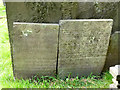 SK6929 : Hickling Churchyard - Belvoir Angel headstones by Alan Murray-Rust