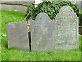 SK6929 : Hickling Churchyard - C18 slate headstones by Alan Murray-Rust