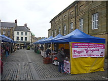 NU1813 : Northumberland Townscape : Alnwick Market, Easter Saturday by Richard West