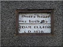 D3115 : Dated plaque, Glenarm by Kenneth  Allen