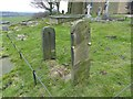 SJ9888 : Remains of stocks in Mellor churchyard by Dave Dunford