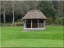 SU8612 : Garden shelter, West Dean by Alan Hunt
