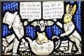SJ5882 : Alice in Wonderland stained glass window, Mad Hatter, All Saints Church Daresbury by Matt Harrop