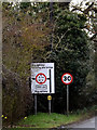 TM0666 : Roadsign on the B1113 Broad Road by Adrian Cable