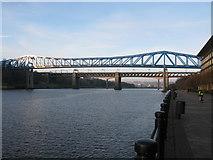 NZ2463 : Queen Elizabeth II Metro Bridge and King Edward VII Bridge by G Laird