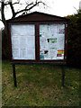 TM0669 : Finningham Village Notice Board by Adrian Cable
