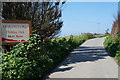 SW8675 : Road leading to Mother Ivey's Bay Holiday Park by Ian S