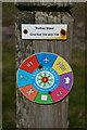 SW8573 : Marker post near Trethias Island by Ian S