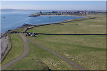 NU1341 : View from Lindisfarne Castle by Stephen McKay