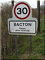 TM0466 : Bacton Village Name sign on Rectory Road by Adrian Cable