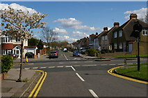 TQ3765 : Links View Road, Spring Park, seen across Bridle Road by Christopher Hilton