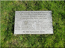 TM5286 : Memorial plaque to American Aircrew by Adrian S Pye