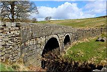 SD9532 : Bridge over Alcomden Water by Chris Heaton