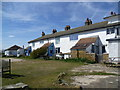 TR0567 : The former coastguard cottages at Shellness by Marathon
