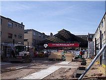TQ3877 : Greenwich Market being refurbished by Stephen Craven